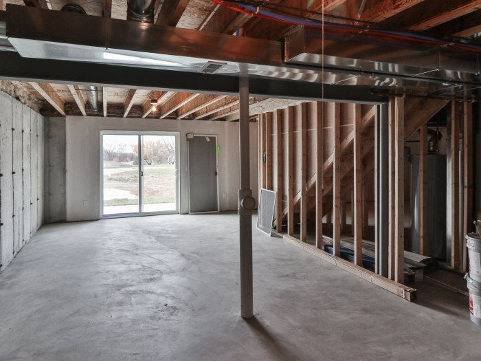 Framed Walkout Basement
